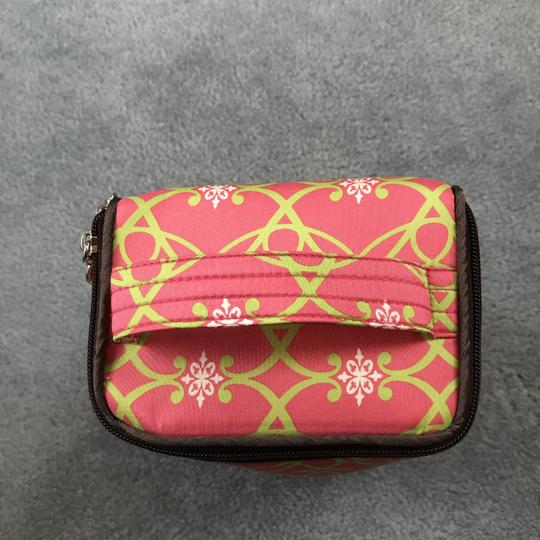 Sub Urban New Without Silk Accessories Rectangular Shape Handle On Top Sub Urban Pink/Green Travel Bag Image 5