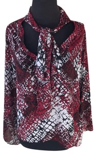 Status By Chenault Top Red/ Black/ White