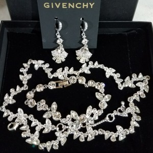 Givenchy Silver Bridal And Crystal Jewelry Set
