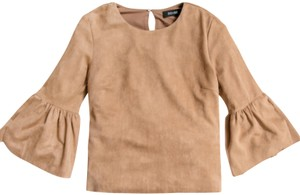DO + BE Top Brown Suede