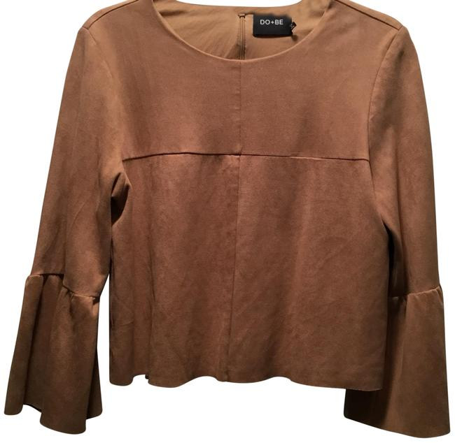DO + BE Top Brown Suede Image 1