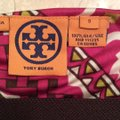 multicolor- fuchsia, white with brown Maxi Dress by Tory Burch Image 4