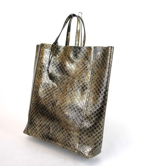 Bottega Veneta Intrecciomirage Top Handle Tote in Gold/Black Image 2