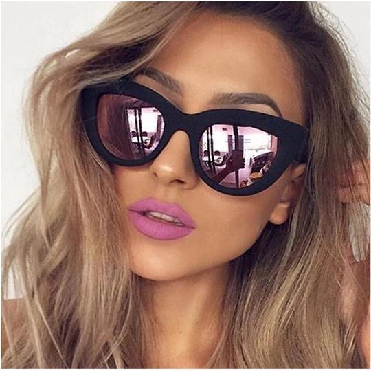 Other Ladies Cat Eye leopard Sunglasses Image 2