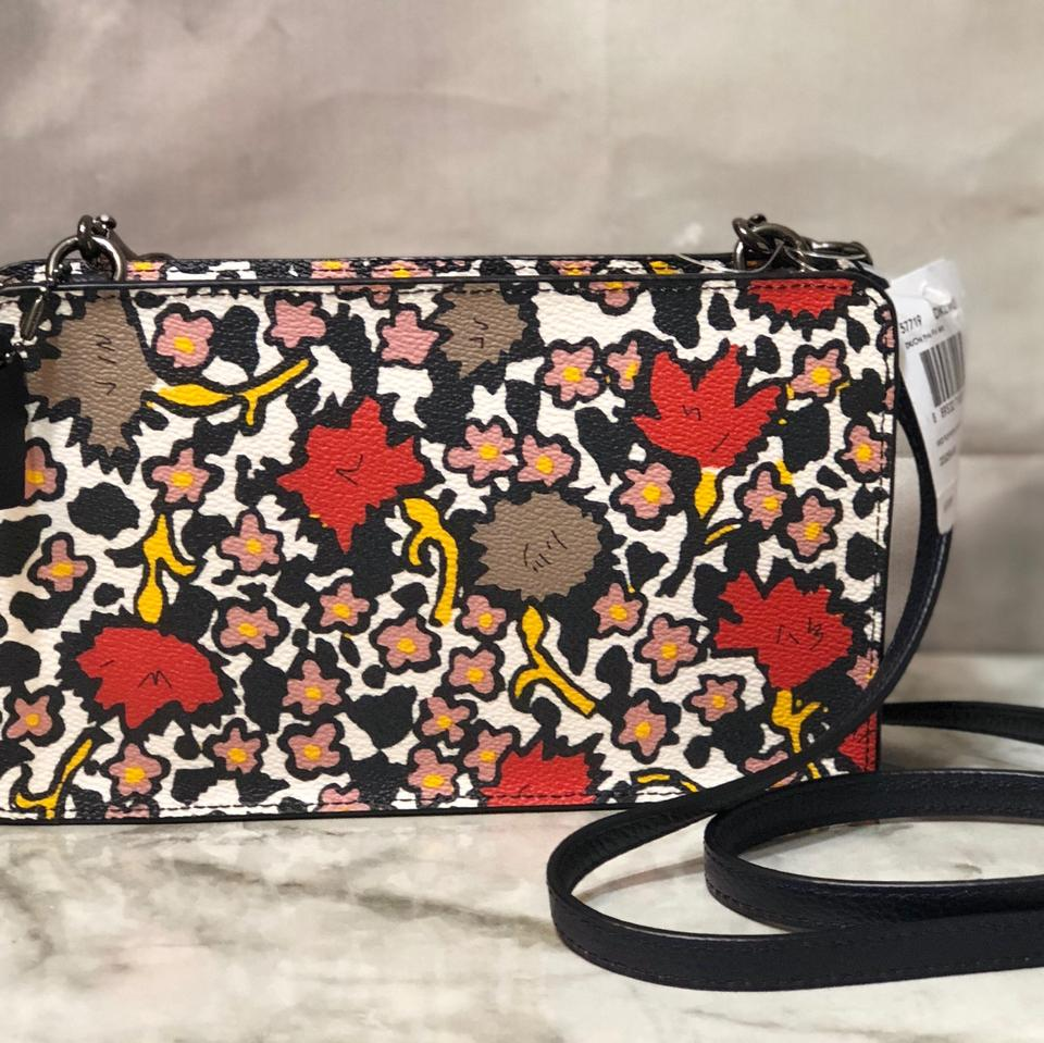 b603527cc Coach Messenger 57719 Up Pouch Mixed Yankee Floral Coated Canvas ...