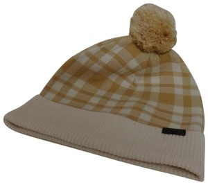 Coach Coach Plaid Pom Knit Hat - New with tags
