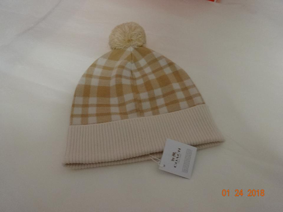 02ea7c1793805 Coach Coach Plaid Pom Knit Hat - New with tags Image 5. 123456
