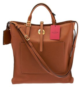 Valentino Eye On You Vertical Tote in Camel