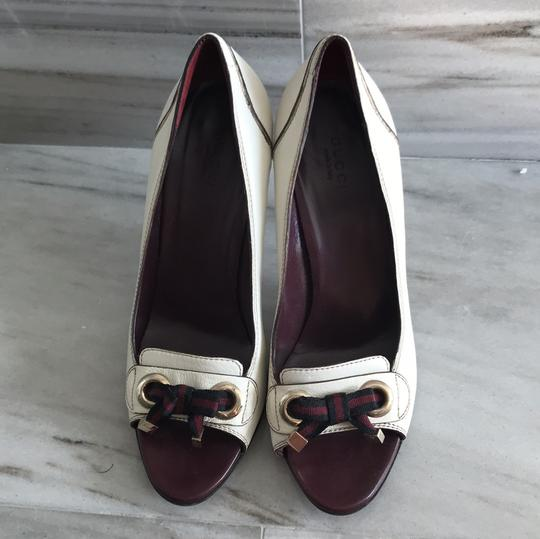 Gucci Ivory with Bordeaux and Navy now details Pumps Image 1