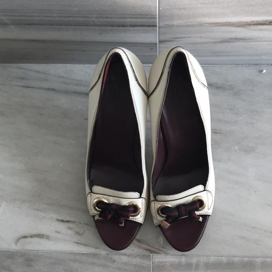 Gucci Ivory with Bordeaux and Navy now details Pumps Image 2