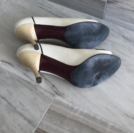 Gucci Ivory with Bordeaux and Navy now details Pumps Image 4