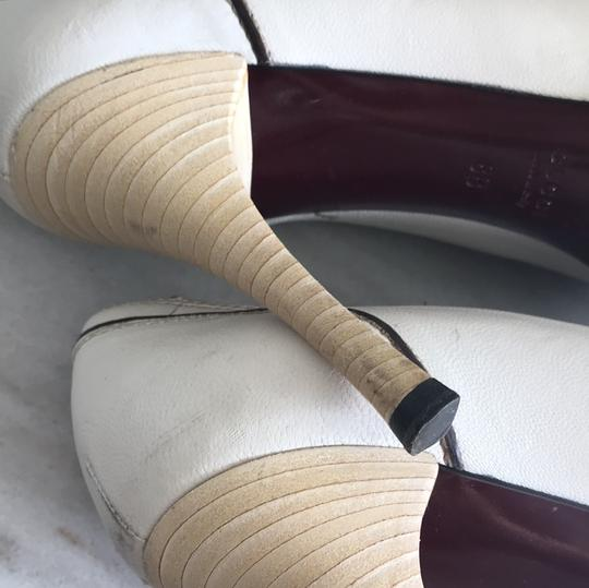 Gucci Ivory with Bordeaux and Navy now details Pumps Image 5