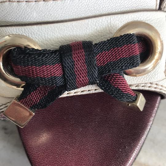Gucci Ivory with Bordeaux and Navy now details Pumps Image 7