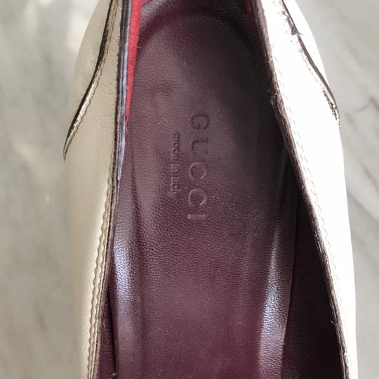 Gucci Ivory with Bordeaux and Navy now details Pumps Image 8