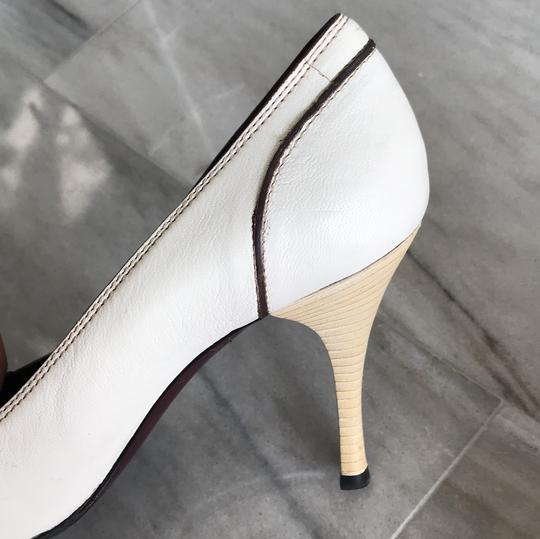 Gucci Ivory with Bordeaux and Navy now details Pumps Image 9