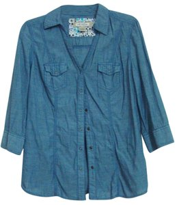 Arizona Jean Company Button Down Shirt Blue