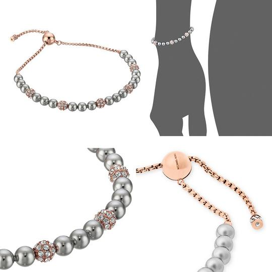 michael kors rose gold tone armband modern classic pearl mkj629371 bracelet tradesy. Black Bedroom Furniture Sets. Home Design Ideas