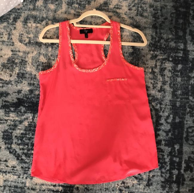 Aqua Top coral with leopard white and coral trim Image 3