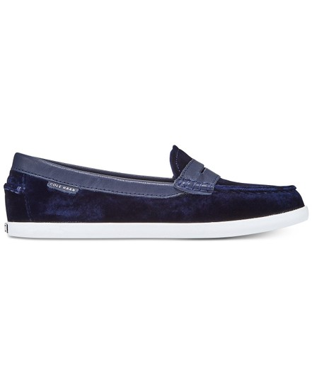 Cole Haan Loafer Weekender Women's Blue Velvet Flats Image 1