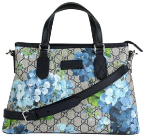 185c72258ede9 Gucci Beige Blue Gg Coated Canvas Reversible 372613 8499 Tote in Beige Blue