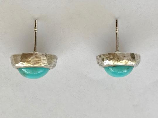 Other Natural Sleeping Beauty Turquoise Studs in Sterling Silver Image 1