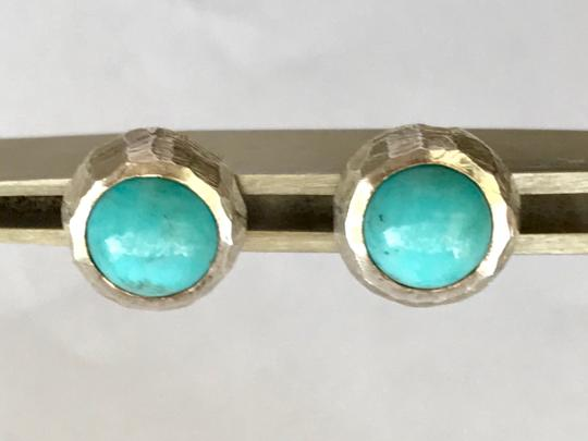 Other Natural Sleeping Beauty Turquoise Studs in Sterling Silver Image 4