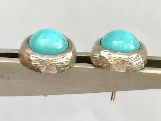 Other Natural Sleeping Beauty Turquoise Studs in Sterling Silver Image 5
