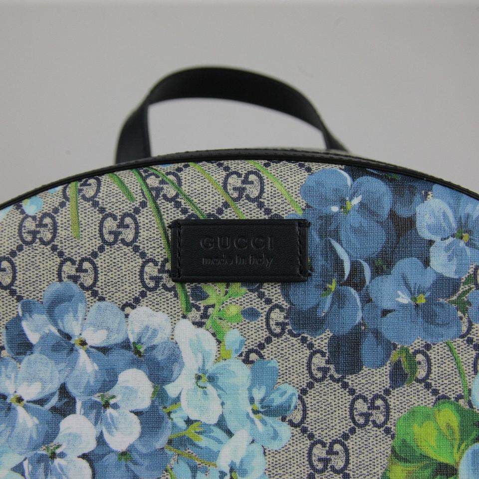 c1a34fc6e039 Gucci Beige Blue Gg Coated Canvas 406370 8496 Backpack Image 10.  1234567891011