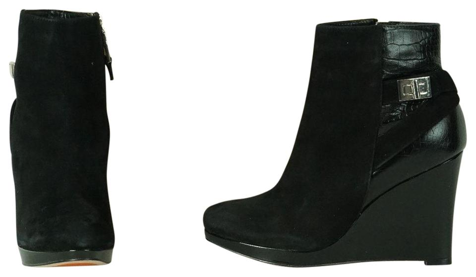 960ea55f7b49 Cole Haan Black Martina Platform Wedge Ankle Leather New Boots Booties