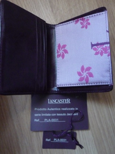 Lancaster New Lancaster Leather and Fabric Card Wallet Image 1