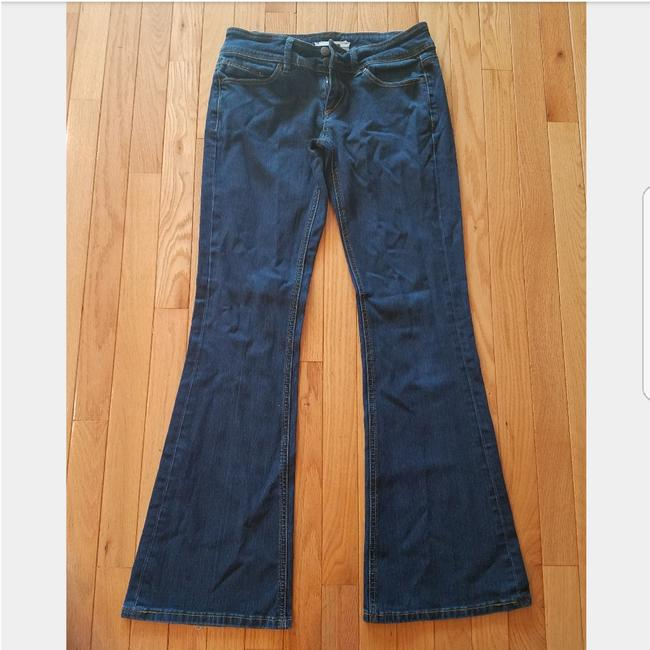 Topshop Trouser/Wide Leg Jeans-Dark Rinse Image 0