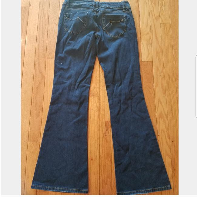 Topshop Trouser/Wide Leg Jeans-Dark Rinse Image 1