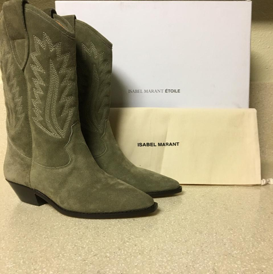287446981cd Étoile Isabel Marant Taupe Dallin Cowboy Boots/Booties Size US 5 Regular  (M, B) 57% off retail