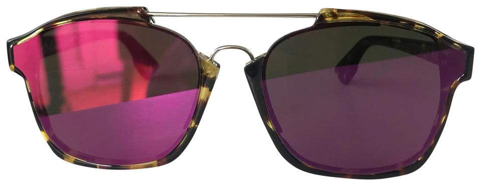 1c241566e4d4 Dior Brown Tortoise Shell Pink Abstract Square Havana Sunglasses ...