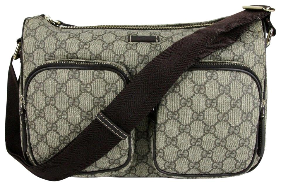 Gucci Beige Ebony Plus Shoulder 246881 8588 Beige Ebony Gg Coated Canvas  Messenger Bag 6056ca5dbd747