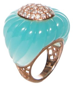 Angelique de Paris Angelique De Paris Turqouise & Cubic Zirconia Cocktail Ring