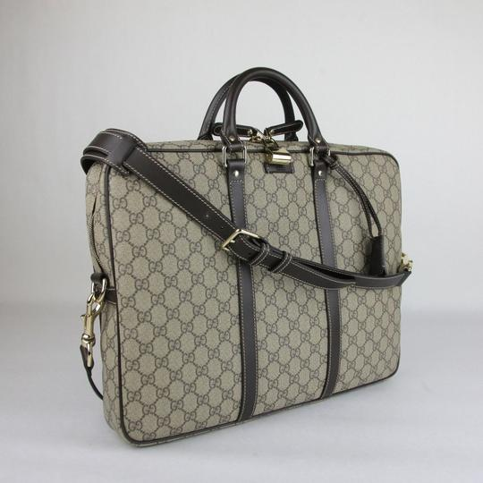 Gucci Men's Beige/Ebony Gg Coated Canvas 201480 Kgdhg 9643 Beige/Ebony Travel Bag Image 1