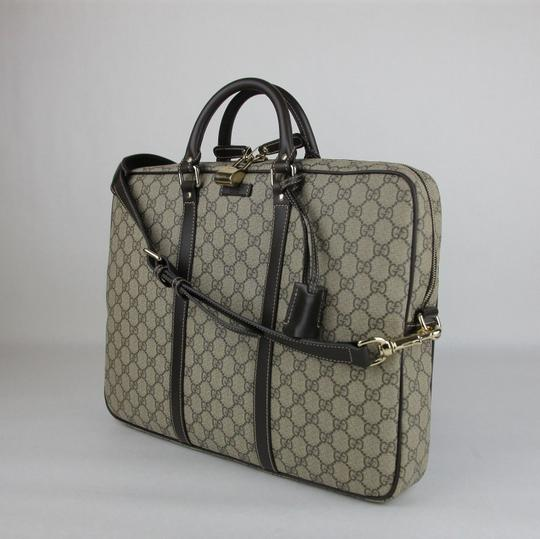 Gucci Men's Beige/Ebony Gg Coated Canvas 201480 Kgdhg 9643 Beige/Ebony Travel Bag Image 2