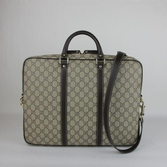 Gucci Men's Beige/Ebony Gg Coated Canvas 201480 Kgdhg 9643 Beige/Ebony Travel Bag Image 3