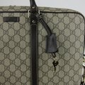 Gucci Men's Beige/Ebony Gg Coated Canvas 201480 Kgdhg 9643 Beige/Ebony Travel Bag Image 6