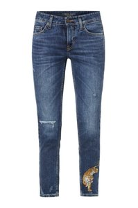 Cambio Capri/Cropped Denim-Medium Wash