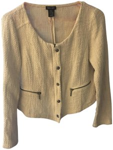 Stoosh Tweed Zipper Button Beige/Tan Jacket