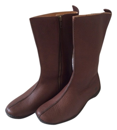Børn Born Pebble Leather Mid-calf Flat New Brown Boots