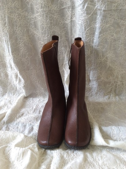 Børn Pebble Leather Mid-calf Flat New Brown Boots