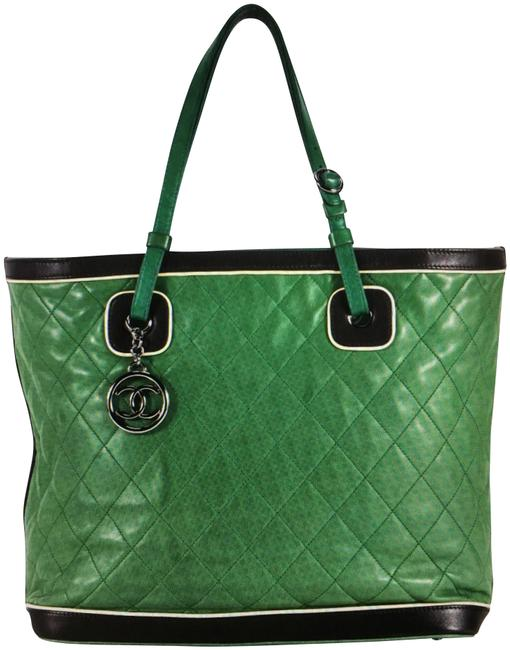 Chanel Mademoiselle Quilted Jumbo Lambskin Leather Tote Chanel Mademoiselle Quilted Jumbo Lambskin Leather Tote Image 1