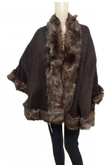 Other Faux Fur Shawl Red Shawl Cape Image 3