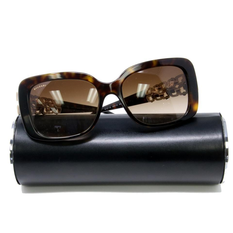 0045c5ceded BVLGARI Brown Gradient Signature Tortoiseshell Swarovski Jeweled Crystals  8167-b Sunglasses