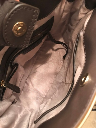 Michael Kors Large North South Metal Gold Mocha Tote in Coffee Brown Image 5