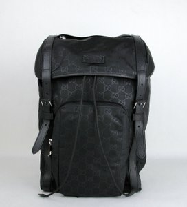 e7be7aa67ea Added to Shopping Bag. Gucci Men s Nylon 387071 Backpack. Gucci Drawstring W  Black Leather Trim ...