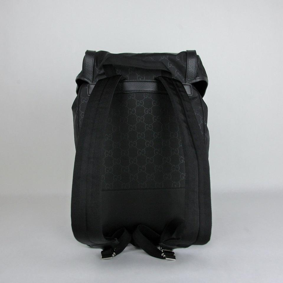 Gucci Drawstring W Black Leather Trim 387071 Black Nylon Backpack - Tradesy 8f68461ac4da2